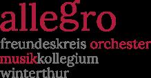 logo allegro freundeskreis orchester musikkollegium winterthur
